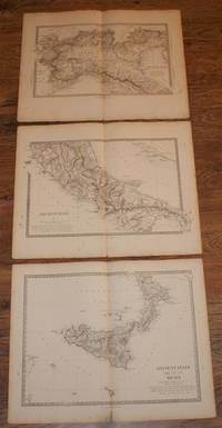 "Map of Ancient Italy and Sicily in Three Sheets - disbound map sheets from 1857 ""University Atlas"