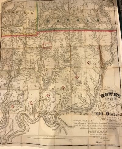 HOWE'S MAP OF THE OIL DISTRICT OF...