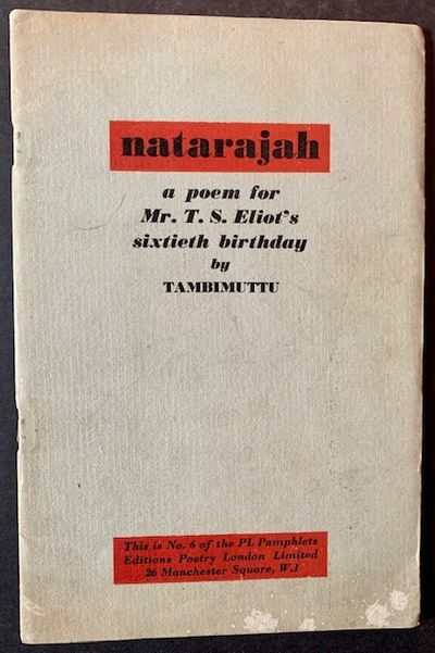 London: Editions Poetry, 1948. Original wraps. Very Good +. The 1948 1st edition of this uncommon of...
