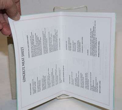 UK: Concretemeatpress, 2008. Ten professionally-printed standard leaves, each distinguished by color...