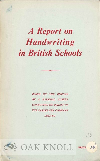 (Croyden, England: Croyden Times, 1960. stiff paper wrappers. Calligraphy. 8vo. stiff paper wrappers...