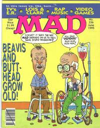 image of MAD Magazine, No. 336, June 1995, In This Issue We Burn: TV's E.R., Lois & Clark
