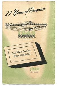 """27 Years of Progress: Fred Meyer Employee Service Award Banquet (Program: Fred Meyer Employees First Annual """"Service Awards"""" Banquet April 21, 1949)"""