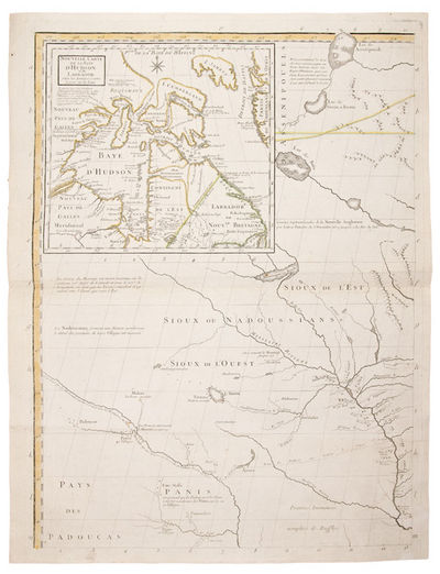 Paris: Le Rouge, 1777. Engraved map, hand-coloured in outline, on 8 sheets (individual sheets: 27 1/...