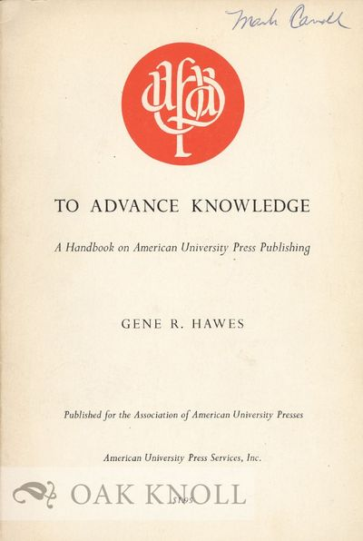 New York: American University Press Service, 1967. stiff paper wrappers. 8vo. stiff paper wrappers. ...