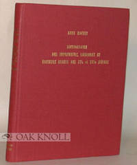 Nieuwkoop: B. de Graaf, 1975. cloth. small 4to. cloth. (v), 287 pages. First edition. This volume li...
