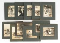 A group of eleven vintage gelatin silver photographs (circa 1920s) mounted individually on...