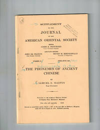 """image of """"The Phonemes of Ancient Chinese"""" in Supplement to the Journal of the American Oriental Society"""