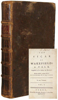 The Vicar of Wakefield: A Tale by  Oliver Goldsmith - Hardcover - 1766 - from B & B Rare Books, Ltd., ABAA (SKU: OG001)