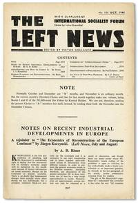 The Left News. With Supplement - International Socialist Forum. No. 100 (October 1944)