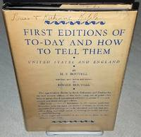 FIRST EDITIONS OF TO-DAY AND HOW TO TELL THEM