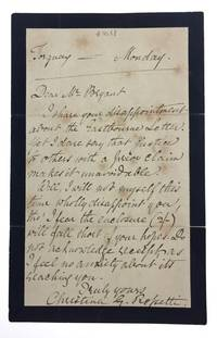 [Rossetti, Christina- ALS from Christina Rossetti to William Bryant] Autograph Letter Signed