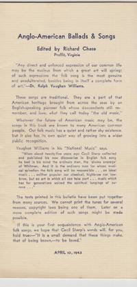 Anglo-american Folksong Scholarship Since 1898