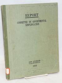 image of Report:  Committee on Governmental Simplification