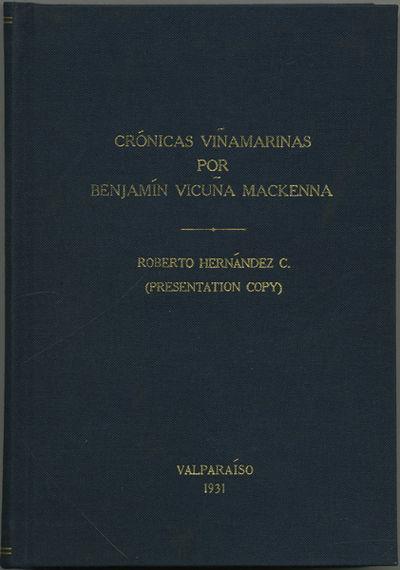 Valparaiso: Talleres gráficos salesianos, 1931. First edition. Modern navy blue cloth with gilt tit...