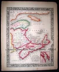County Map of Nova Scotia, New Brunswick, Cape Breton Id. and Pr. Edward's Id.  from the New Universal Atlas.