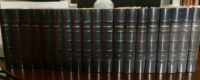 1935-1936. Unique. Hardcover. Very Good+. ABAA-VBF. 19 volumes bound in quarter calf with raised ban...