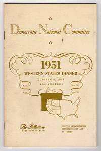 DEMOCRATIC NATIONAL COMMITTEE, WESTERN STATES DINNER, THE PALLADIUM, OCTOBER 8, 1954: SEATING ARRANGEMENTS ALPHABETICALLY AND BY TABLES