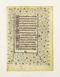 FROM A VERY DECORATIVE BOOK OF HOURS IN LATIN by  OFFERED INDIVIDUALLY ILLUMINATED VELLUM MANUSCRIPT LEAVES - ca. 1420 - from Phillip J. Pirages Fine Books and Medieval Manuscripts (SKU: ST11052b-2d)