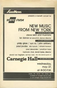 image of Soho News Presents a Benefit Concert for WNYC FM94: New Music from New York