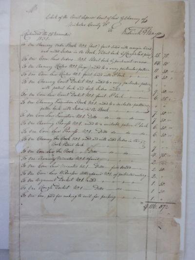 (EARLY VIRGINIA BOOKBINDER MANUSCRIPT) MAYO, Frederick August. Manuscript Invoice for Blank Books Bo...