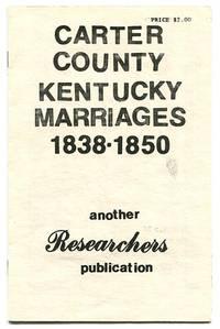Carter County Kentucky Marriages 1838-1850