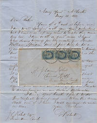 Letter send from a young petty officer assuring his brother that he was going not going to renege on his commitment to work for the Purser of Commodore Perry's flagship, the USS Mississippi, on its voyage to Japan to force the Shogunate to open the country to foreign trade and allow the resupply of American whaling vessels