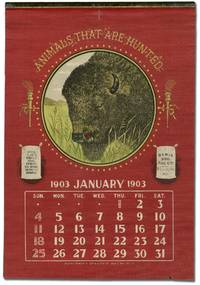 [Calendar on linen]: Animals That Are Hunted