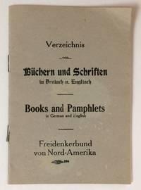 image of Verzeichnis von Buchern und Schriften in Deutsch u. Englisch. Books and Pamphlets in German and English