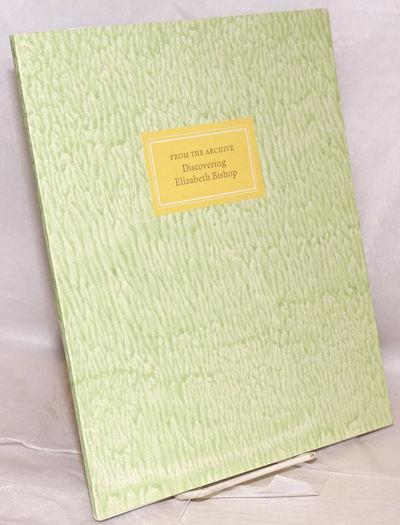 Poughkeepsie: Vassar College Libraries, 2011. Paperback. 52p., 9x11 inches, frontis-portrait, prefac...