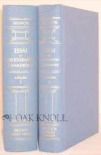 ESSAI DE BIBLIOGRAPHIE CANADIENNE, INVENTAIRE D'UNE BIBLIOTHEQUE