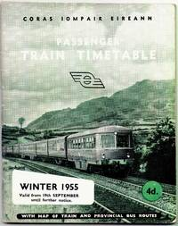 Passenger Train Timetable Winter 1955 valid from 19th September until further notice