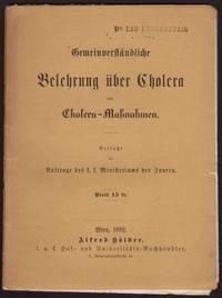 GemeinverstŠndliche Belehrung Ÿber Cholera und Cholera-Ma§nahmen.
