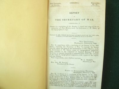 Washington: Bureau of Topographical Engineers, 1848. This is a Senate document from the 30th Congres...