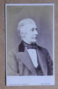 Carte De Visite Photograph: Portrait of a Gentleman. by W. & A. H. Fry - from N. G. Lawrie Books. (SKU: 25255)