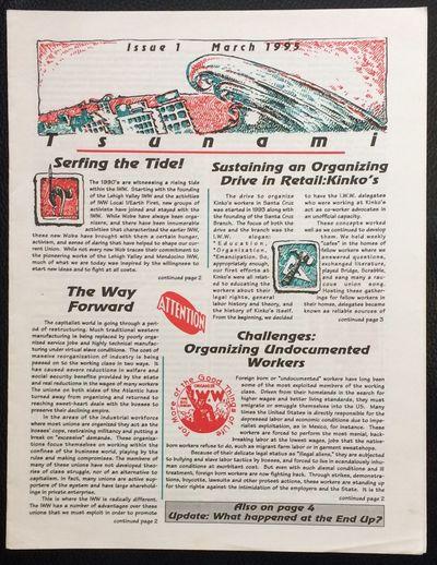 Philadelphia, PA: Philadelphia IWW, 1995. 4p. newsletter, 8.5x11 inches, very good. Includes a piece...
