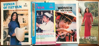 Hanoi: Vietnam Women's Union, 1990. Twenty-nine issues of the staplebound magazine, color covers, bl...