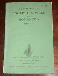 A Catalogue of English Novels and Romances 1612-1837