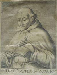 Early engraved Portrait of  Antonius Sanfelicius, Three Quarter Length, in robes, reading.