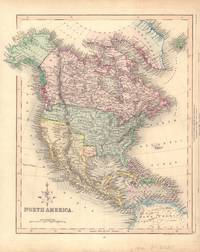 image of Hand-Colored Map of North America (Texas as an Independent Republic)
