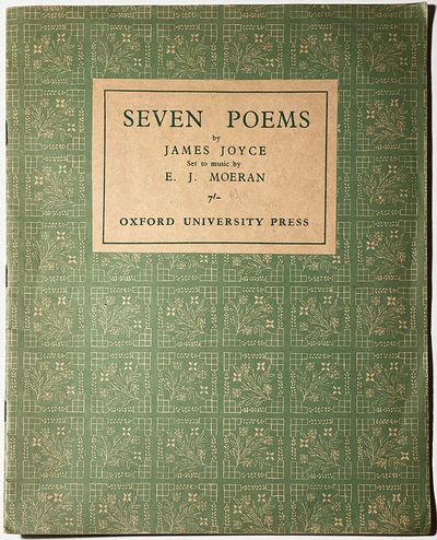 JOYCE (James): Seven Poems ... set to music by E. I. Moeran. Oxford: Oxford University Press . Folio...