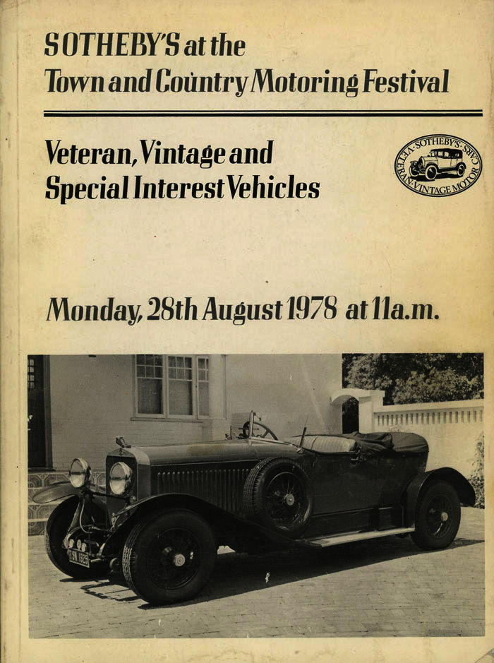 sotheby 39 s at the town and country motoring festival catalogue of veteran vintage and special. Black Bedroom Furniture Sets. Home Design Ideas