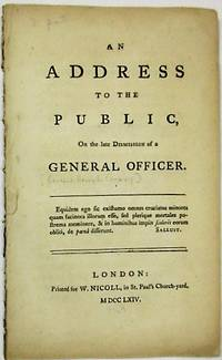 AN ADDRESS TO THE PUBLIC, ON THE LATE DISMISSION OF A GENERAL OFFICER