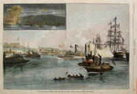 The Newburgh Centennial - The View on the River, a full page spread from Harper's Weekly