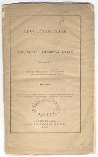 A lunar tidal wave in the North American lakes. Demonstrated by Brevet Lieut.-Col. J. D. Graham, major of… by  J. D Graham - 1861 - from Philadelphia Rare Books & Manuscripts Co., LLC (PRB&M)  (SKU: 10524)