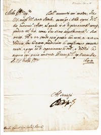 image of HOLOGRAPH LETTER SIGNED by ODOARDO FARNESE, DUKE OF PARMA, addressed to FRANCESCO CAPIZUCCHI at Christmas-time. Together with 2 ENGRAVED PORTRAITS.