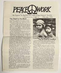 image of Peacework:  New England tax resistance anti draft_peace movement newsletter (February 1973)