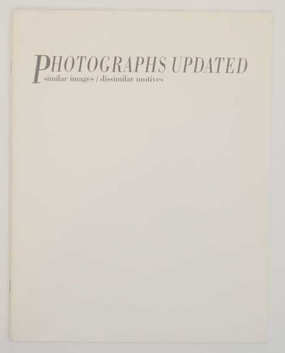 Rohnert Park, CA: University Art Gallery, Sonomoa State University, 1990. First edition. Softcover. ...