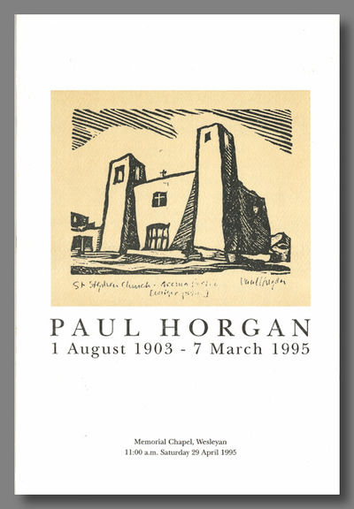 , 1995. pp. leaflet, on stiff textured card, featuring a reproduction of a linoleum cut by Paul Horg...