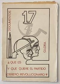 image of Qué es y que quiere el Partido Obrero Revolucionario